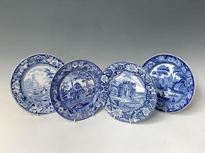 Lot 35 - A Tchiurluk pattern dinner plate from the...