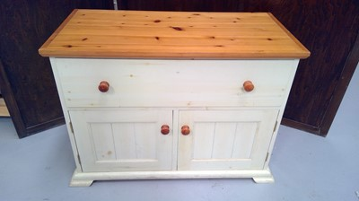Lot 6 - A painted pine sideboard, height 65.5cm width...