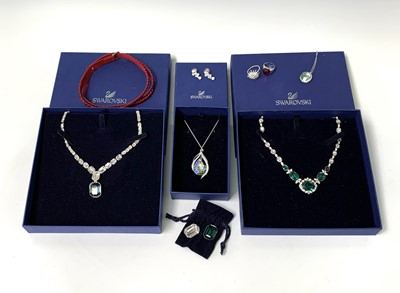 Lot 49 - Swarovski Jewellery - Two boxed necklaces -...
