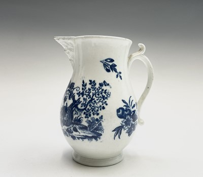 Lot 800 - A Worcester blue and white jug, circa 1780,...
