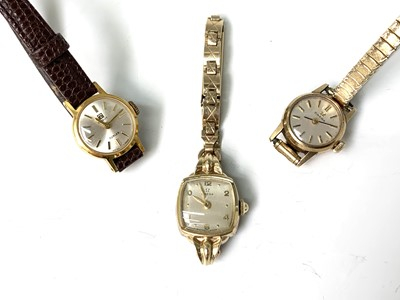 Lot 81 - A 9ct gold cased ladies Omega wristwatch and...