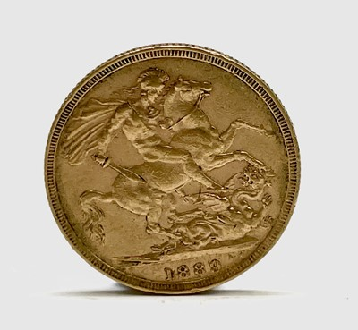 Lot 2 - A full sovereign 1889