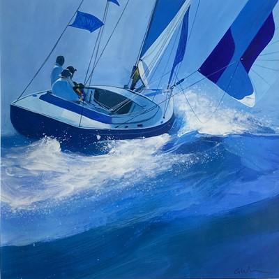 Lot 71 - Glyn MACEY (1969) Afternoon Sailing Mixed...
