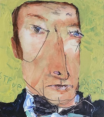 Lot 72 - Julian DYSON (1936-2003) Steve (Davis) Mixed...