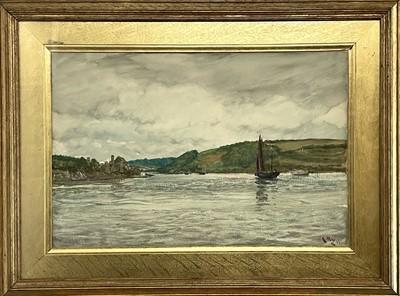 Lot 80 - Charles Napier HEMY (1841-1917) St Mawes Creek,...