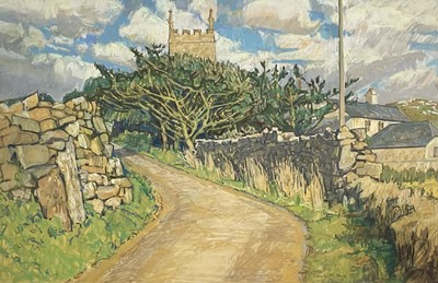 Lot 60 - Carole PAGE (1955) Afternoon at Zennor Pastel...