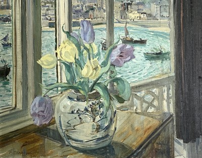 Lot 83 - Mary MCCROSSAN (1865-1934) St Ives Window Oil...