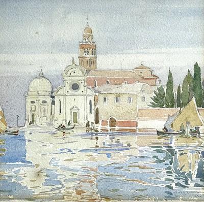 Lot 88 - Mary MCCROSSAN (1865-1934) Venice Watercolour...