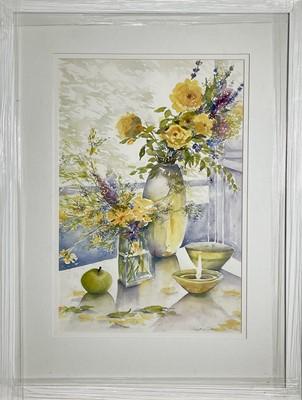 Lot 402 - Maggie O'BRIEN Golden Showers Watercolour...