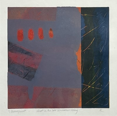 Lot 352 - Anthea RICHARDS (1940) What is the late...