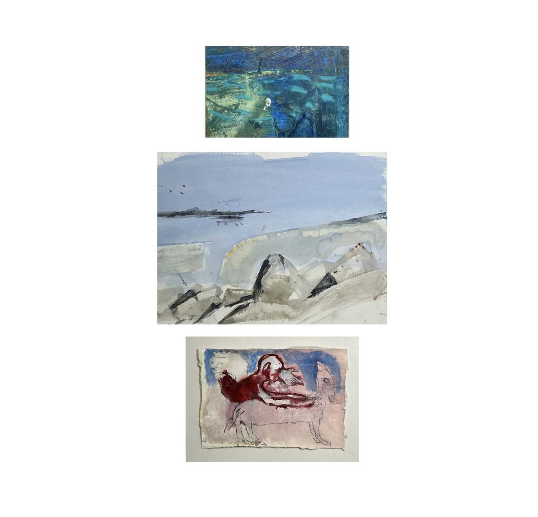 Lot 373 - Nancy PICKARD (1963) Blue Mixed media 10 x...