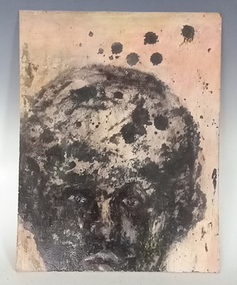 Lot 12 - An unusual abstract portrait, confidently...