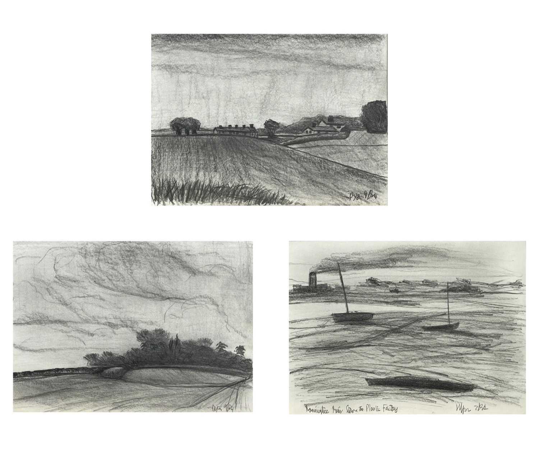 Lot 357 - Julian DYSON (1936-2003) Three sketches Each...