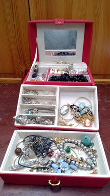 Lot 19 - Two Jewellery boxes containing, pendants,...