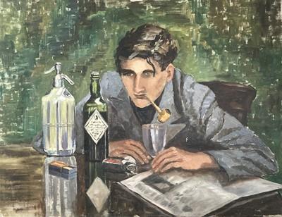Lot 10 - Garlick BARNES (1891-1987) Long Night Oil on...