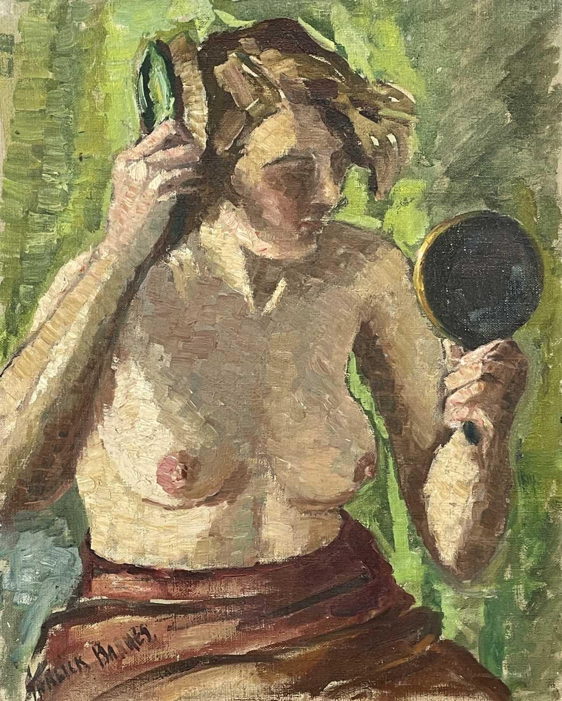 Lot 20 - Garlick BARNES (1891-1987) A Portrait of a...