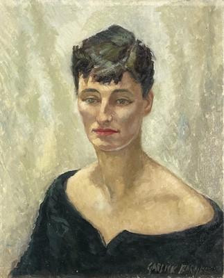 Lot 22 - Garlick BARNES (1891-1987) Portrait of a Lady...