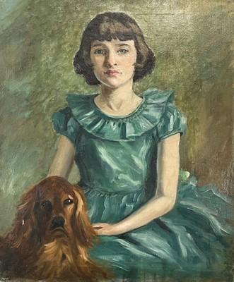 Lot 24 - Garlick BARNES (1891-1987) Portrait of a Girl...