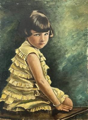 Lot 25 - Garlick BARNES (1891-1987) Portrait of a Girl...