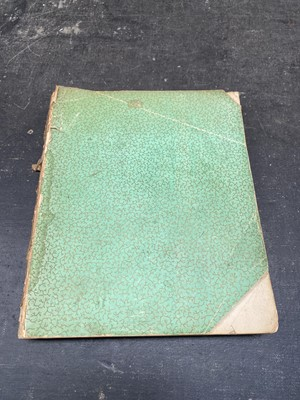 Lot 10 - A Victorian scrap book, with many pressed...