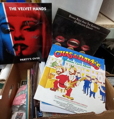 Lot 195 - Vinyl Records, including Chas and Dave, Diana...