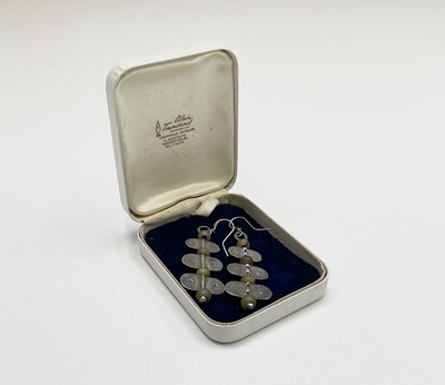 Lot 361 - A pair of stone bead and silver Guy Royle...