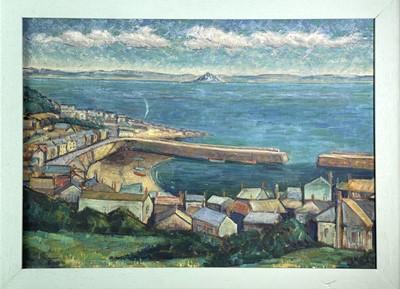 Lot 388 - Newlyn School A View of Mounts Bay Overlooking...