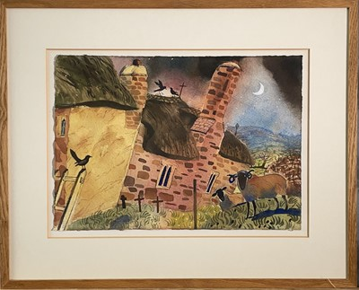 Lot 353 - Andrew WADDINGTON (1960) The Church Yard at...