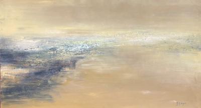 Lot 1093 - Bó YÚN 薄云 (1948) Abstract Landscape Oil on...