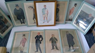 Lot 21 - Eleven framed Vanity Fair Spy prints.