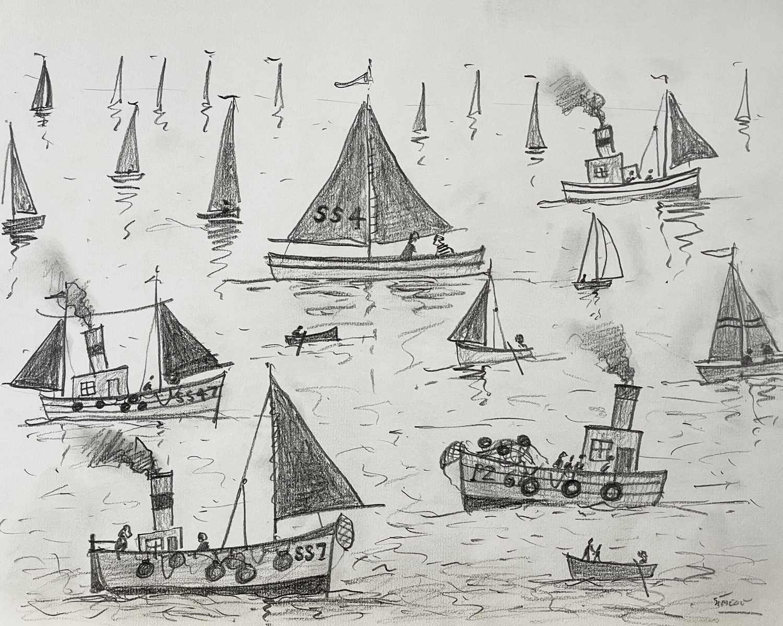 Lot 385 - Simeon STAFFORD (1956) Sail and Steam Day...