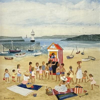 Lot 2 - Brenda KING (1934-2011) Punch & Judy, St Ives...