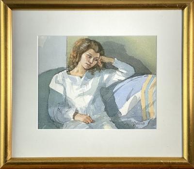 Lot 406 - Ken SYMONDS (1927-2010) Val Watercolour Signed...