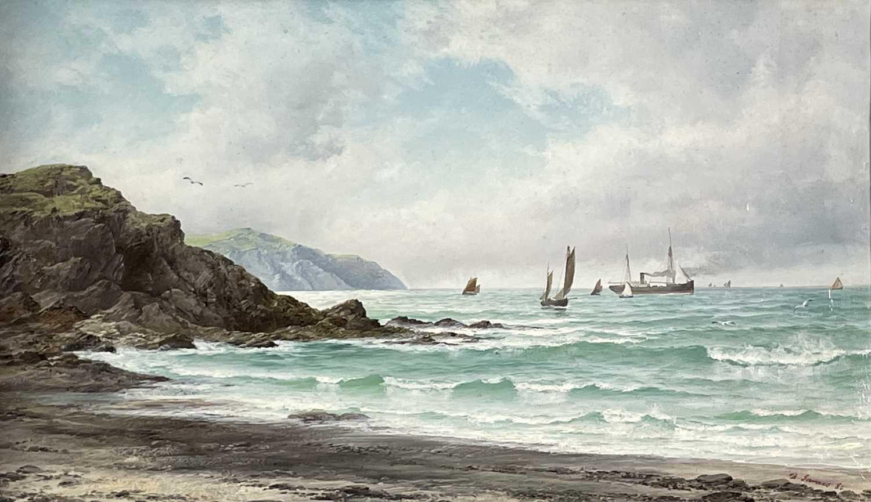 Lot 395 - David JAMES (1853-1904) A South West Breeze,...