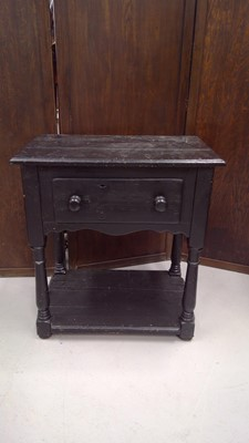 Lot 15 - A small pine painted sideboard with pot...