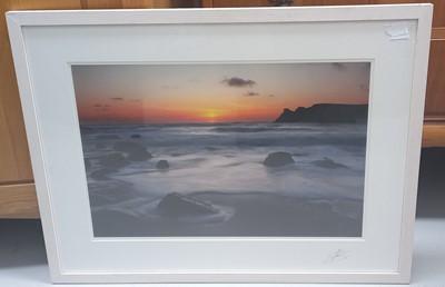 Lot 23 - Lee SEARLE, 'Sunset Over Nanjizel', photograph,...