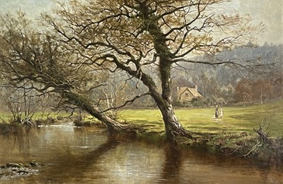 Lot 398 - Arthur Bevan COLLIER (1832-1908) On the River...