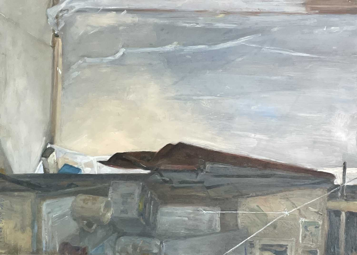 Lot 1004 - Alec WILES (1924) Untitled Oil on board Signed...