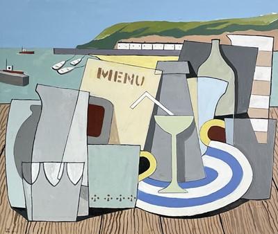 Lot 364 - Leon DAVIES (1947) Still Life with Cornish...