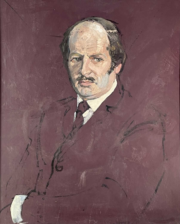 Lot 1016 - Alec WILES (1924) Portrait Oil on board Signed...