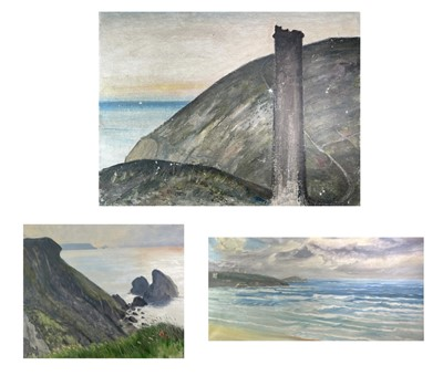 Lot 1018 - Alec WILES (1924) The North Cliffs Towards...