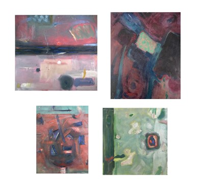 Lot 1021 - Alec WILES (1924) Four untitled contemporary...