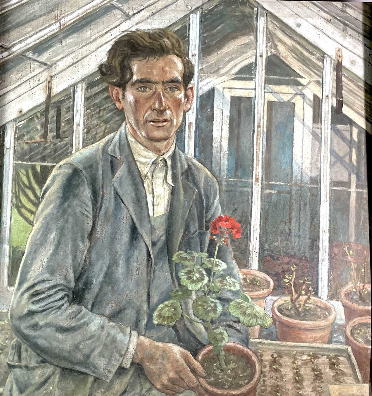 Lot 1001 - Alec WILES (1924) The Gardener Oil on board...