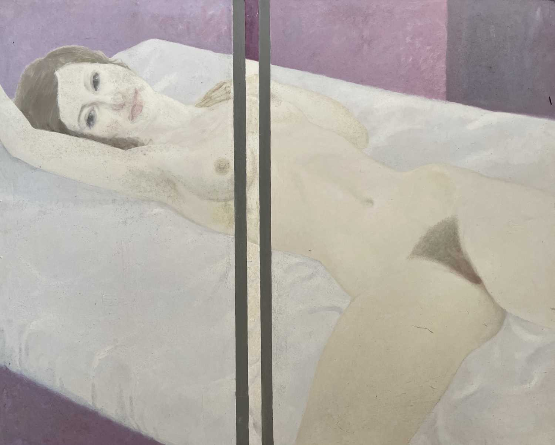 Lot 1029 - Alec WILES (1924) Reclining Nude Oil on board...