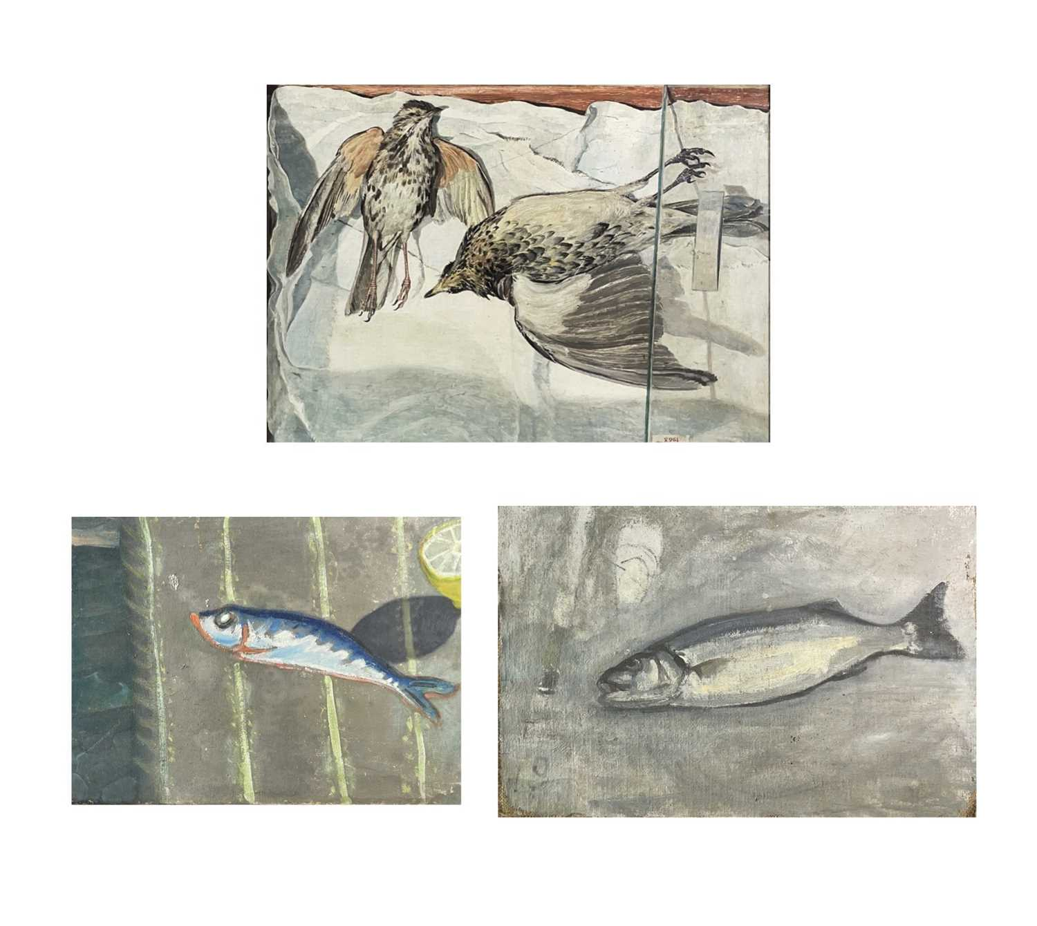 Lot 1030 - Alec WILES (1924) Bass Oil on canvas laid down...