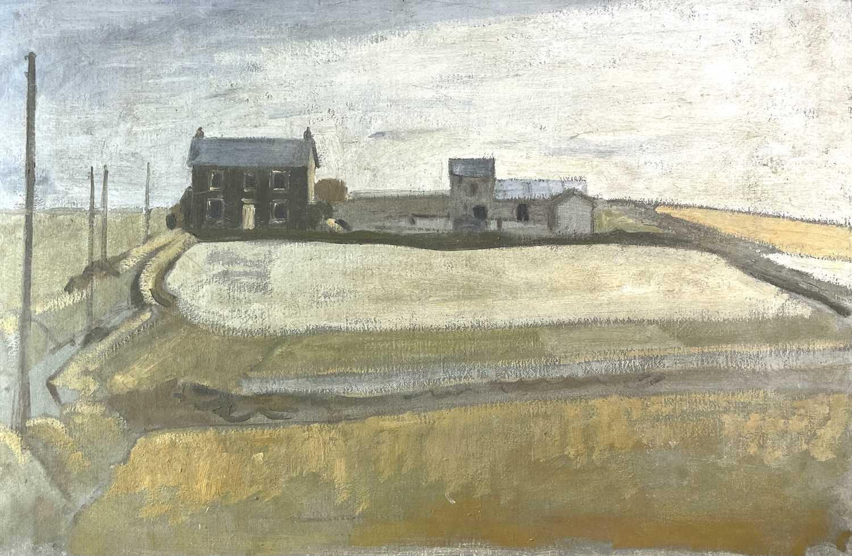 Lot 1034 - Alec WILES (1924) Cornish Farm Oil on board...