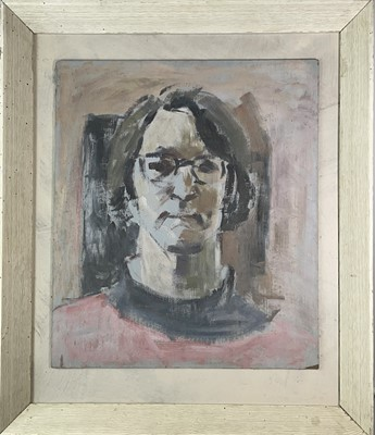 Lot 1037 - Alec WILES (1924) Two Portraits 75x50cm and...