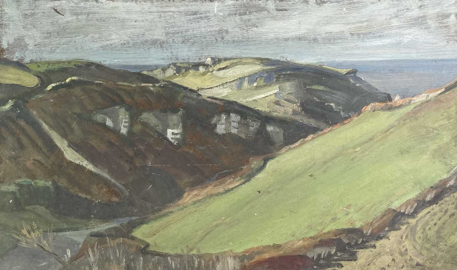 Lot 1040 - Alec WILES (1924) The Road to the Sea Oil on...