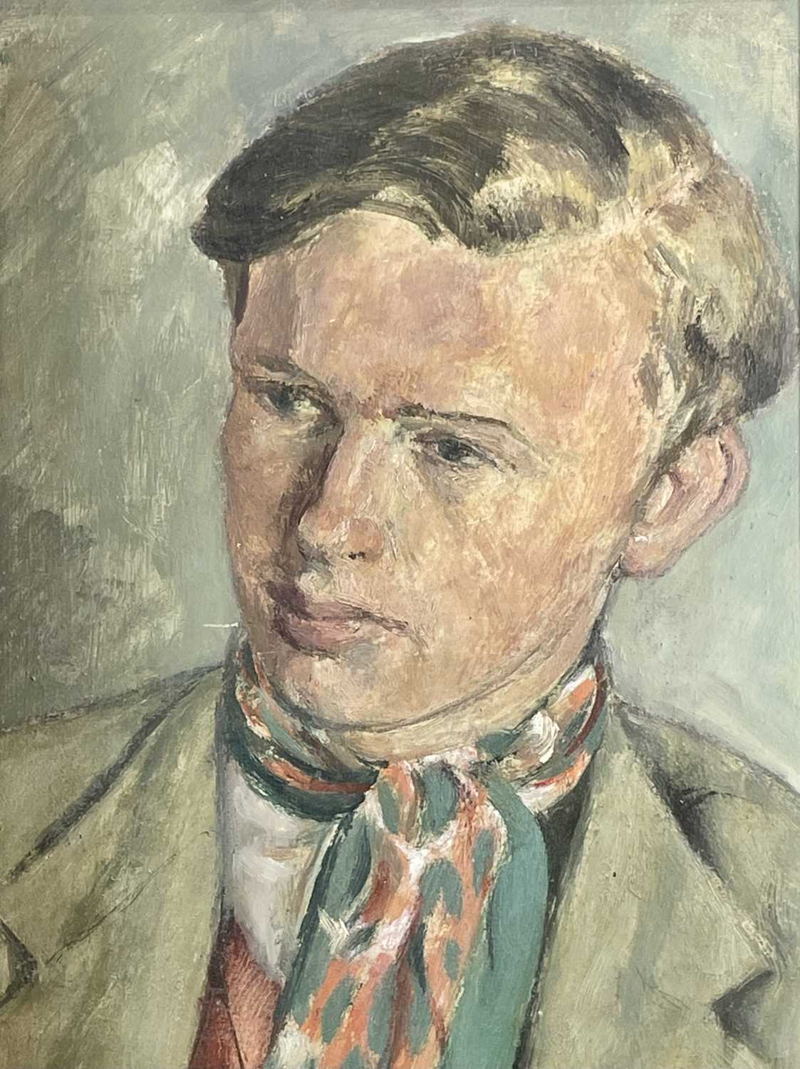 Lot 1005 - Alec WILES (1924) Portrait of a Young Man# Oil...