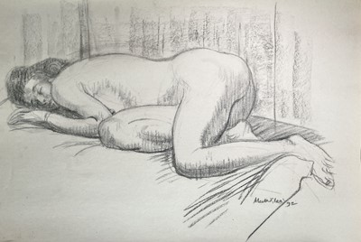 Lot 1043 - Alec WILES (1924) Nude drawings A collection...